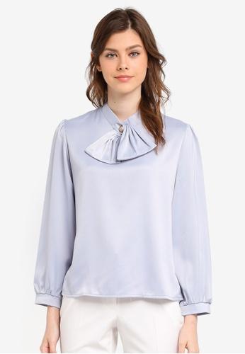 BYN grey Long Sleeve Top BY059AA0SWLAMY_1