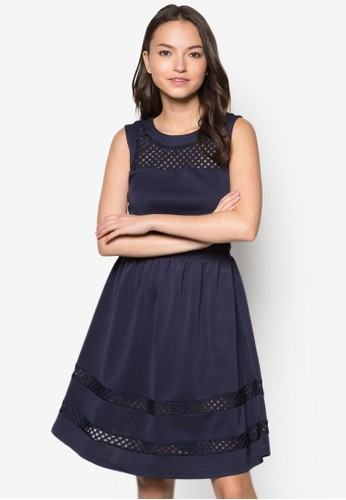 Hitomi 拼接連身裙, esprit台灣官網服飾, 洋裝