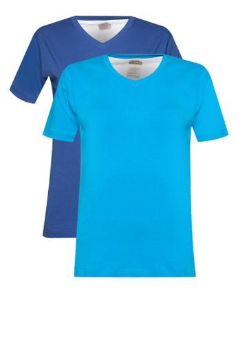 Nukleus blue V Neck 2 Colors Multipack Tee 8FC97AA334ED56GS_1