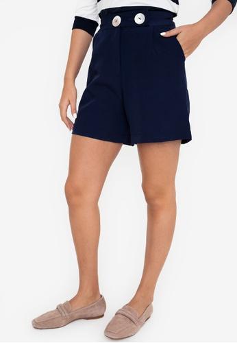 Blued blue Veena Shorts B72E4AAB44CE61GS_1