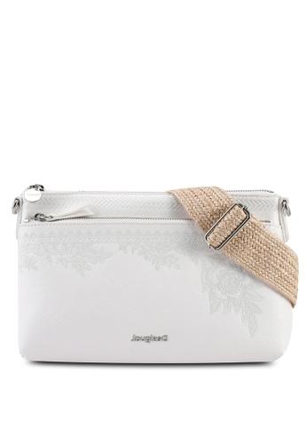 Desigual white Lyrics Durban Shoulder Bag 301C8ACF4A8E5BGS_1