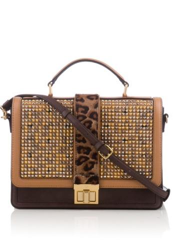 MCM brown Preloved Brown Veronica Visetos Satchel Bag CF188ACDEF8544GS_1
