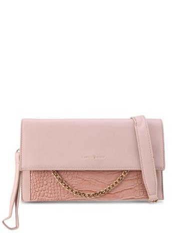 PLAYBOY BUNNY pink Chain Pleather Clutch Bag 48CDBAC29FA717GS_1