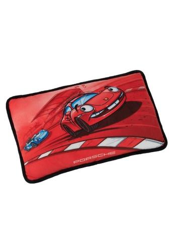 Porsche Driver's Selection Red Stuff Toy Cushion for Children Porsche Cartoon Racing Car Design Kids Pillow DABF7HL47E3C09GS_1