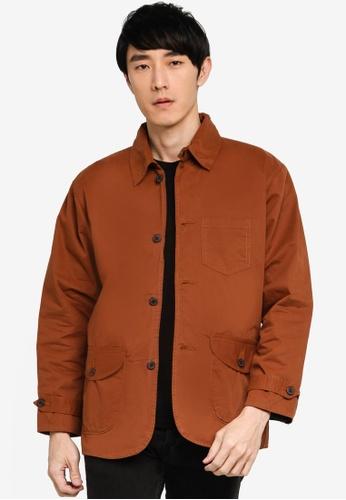 Août brown Août - Mens Lightweight Utility Jacket in Brown 69293AA9E70D20GS_1