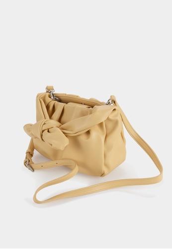Pomelo yellow Bow Handle Bag - Yellow 0F85FAC5245B3EGS_1