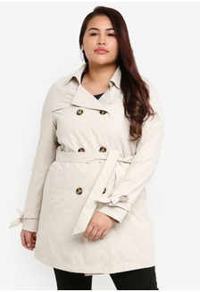 a0019b24dce Plus Size Tukka Long Sleeve Trench Coat DE190AA2885609GS 1