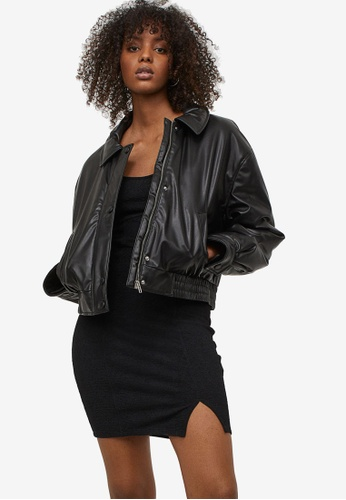 H&M black Bodycon Dress B3002AA1D664D1GS_1