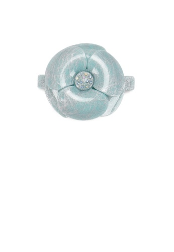Glamorousky blue Fashion and Simple Light Blue Flower Hair Slide with Cubic Zirconia 3A6ECACF21FD0CGS_1