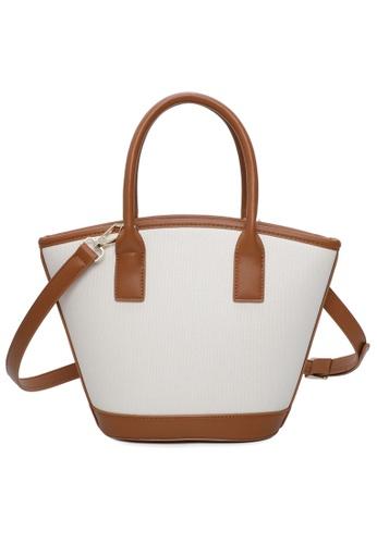Milliot & Co. brown Libby Top Handle Bag E83D4ACE8C00CCGS_1