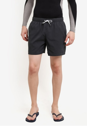 Abercrombie & Fitch black Guard Solid Trunks AB423US0RDNWMY_1