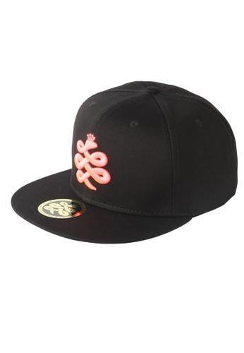 Chronomart black and pink Baem Korea Pink Logo Snapback Black Street K-Pop Fashion Cap CH783AC68WYPPH_1