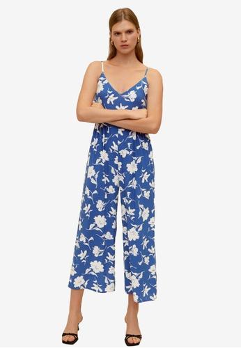 Mango blue Long Printed Jumpsuit 08CEEAAF6D697CGS_1