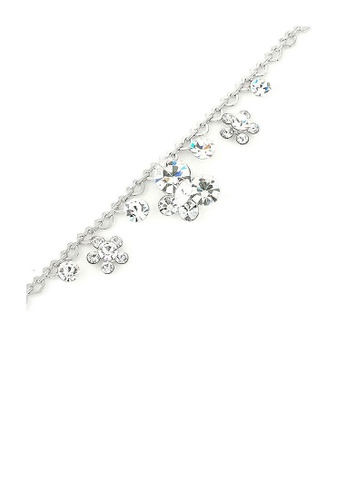 Glamorousky silver Heart Chained Bracelet with Flower and Butterfly Charms and Silver Austrian Element Crystals 5C715AC2A06802GS_1