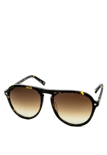 HEX EYEWEAR black and brown Explorer - Leif E. - Sunglasses - Italy Design HE671AC2V1LGHK_1