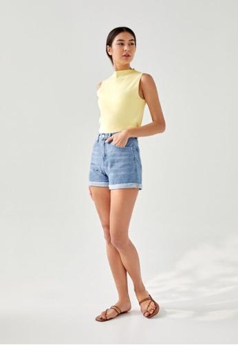Love, Bonito blue Nelly Cuffed Denim Shorts 6018FAA4DEB53EGS_1