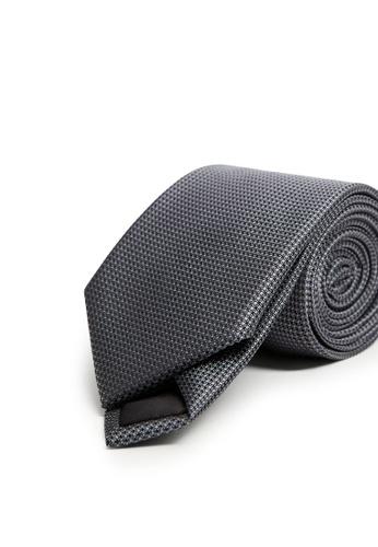 MANGO Man grey Patterned Tie F4548AC68BCD17GS_1