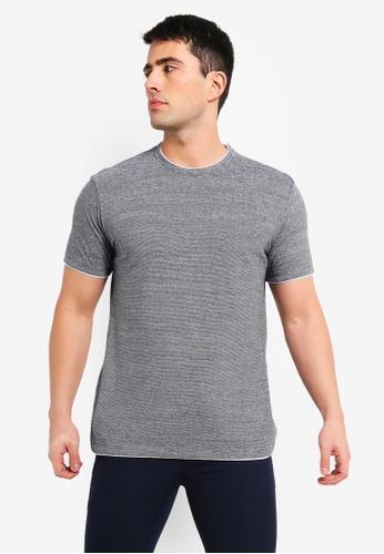 MANGO Man 藍色 條紋針織T恤 27245AAD584F41GS_1