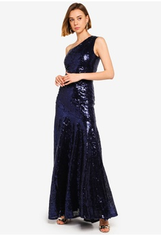 d486471539 30% OFF Goddiva One Shoulder Sequin Sheath Maxi S  152.90 NOW S  106.90  Sizes 8 10 12 14