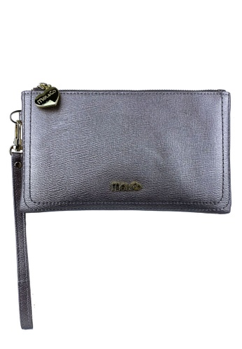 Mel&Co grey Faux Leather Clutch Wristlet EDC05AC7E8C9AAGS_1