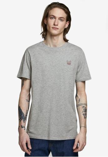 Jack & Jones grey Embroidery Short Sleeves Tee 5950AAA3AAA173GS_1