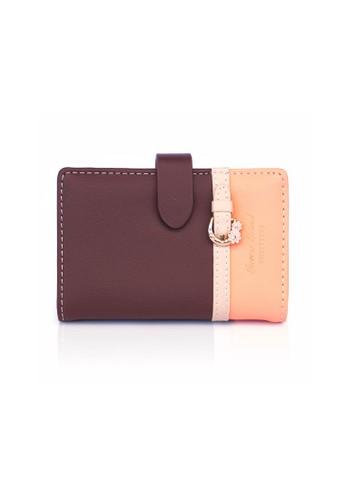 VERNYX - Women's Pretty Zys Floretta Card Wallet DO501 Brown - Dompet Kartu Wanita