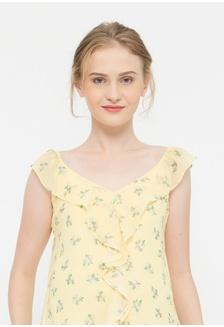 ee40d84925cdb7 Sl Ruffles Yvette Nursing Top Yellow Floral 1D0F1AAB4237C3GS 1 Bove by Spring  Maternity ...