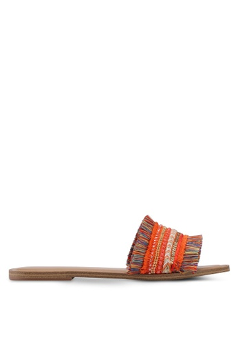 ALDO orange Castlerock Flat Sandals EAE51SH8A2EB48GS_1