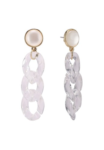 Pieces white Oye Earrings 145F5AC7C6B6AAGS_1