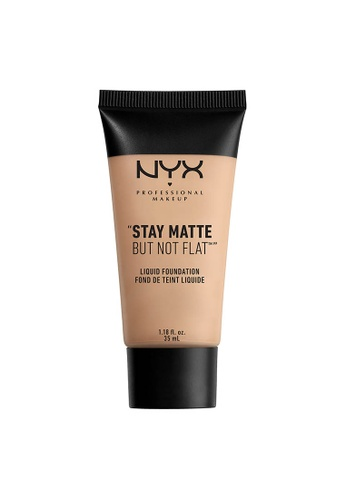 NYX Professional Makeup beige NYX Professional Makeup Stay Matte But Not Flat Liquid Foundation -NUDE BEIGE 5C7DFBEE024C82GS_1