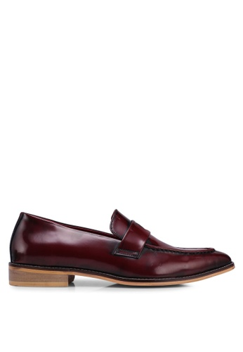 ACUTO red Leather Loafers CDE8CSHE5ADD82GS_1