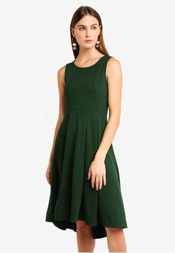 bYSI green Sleeveless Skater Midi Dress 9B429AABCD987EGS_1
