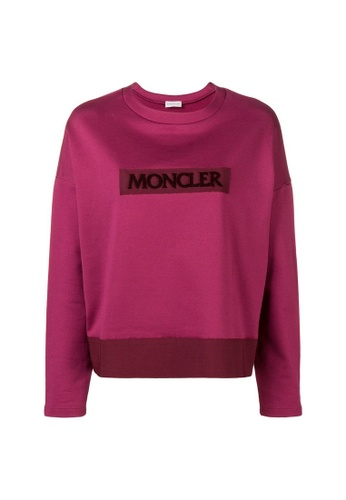 Moncler red Moncler Logo Patch Sweatshirt in Red CE5FCAAB857002GS_1