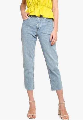 TOPSHOP blue Considered Bleach Straight Jeans 2D58BAAB792471GS_1