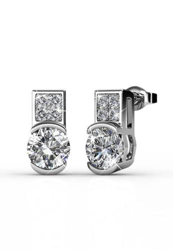 Her Jewellery silver Swarovski® Zirconia - Simply Earrings (18K White Gold Plated) Her Jewellery HE581AC0RAD6MY_1
