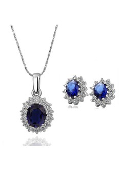 Lorraine Necklace & Earrings Set (Titanium Plated)