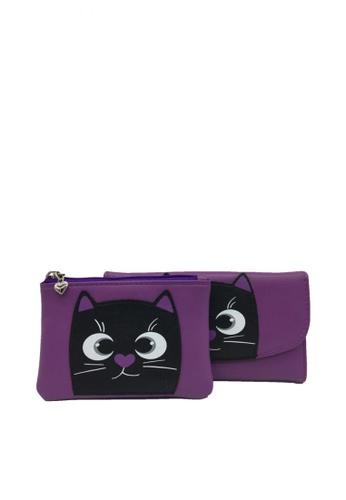 Stylesource purple 2 in 1 Long Wallet & Coin Purse SC006A ST896AC0K64WPH_1