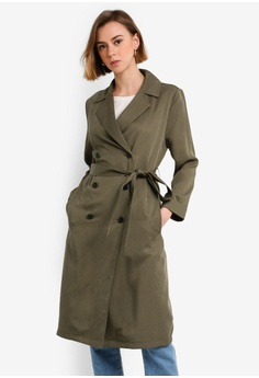 03a030038276e Jack Wills green Malmsbury Fluid Belted Trench Coat 6562AAA057F5D8GS_1