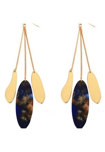 A-Excellence gold Asymmetric Earrings 4FA7CAC227A6E2GS_1