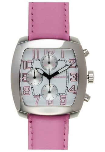 EGLANTINE silver EGLANTINE® Navigo Steel Chrono Quartz Watch on Pink Leather strap FF8CBAC65ED9C1GS_1