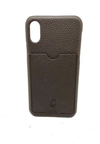 Oxhide brown iPhone Leather Case - iPhone Cover made of real leather - iPhone XS Cover with Card Holder - Oxhide 7F86EACE47D0BBGS_1
