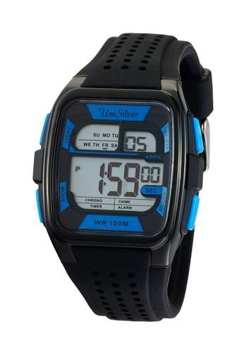 UniSilver TIME red Brent Manzano's Sportsman Rubber Watch UN802AC29BGWPH_1