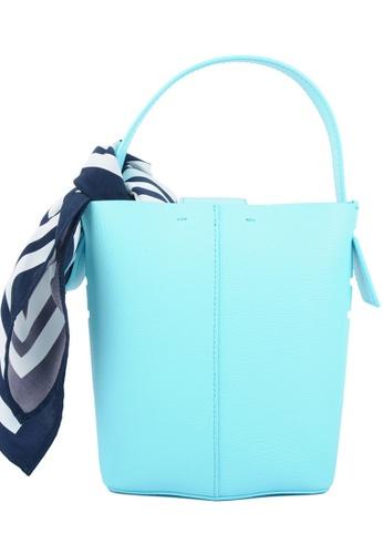 RO Bags blue RO Terranova Felucca Mini Top Handle Bucket Bag in Aqua/Mint 9C41AAC5739F09GS_1