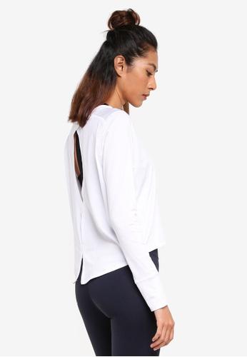 Cotton On Body white Asana Long Sleeve Top 9964FAAB802065GS_1