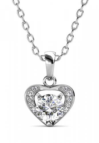 Her Jewellery silver Her Jewellery Forever Pendant (White Gold) with Necklace Chain with 18K Gold Plated 2BDA3ACE46C940GS_1