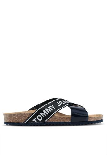 Tommy Hilfiger blue Tommy Jeans Flat Cork Sandal 177A2SH6482027GS_1