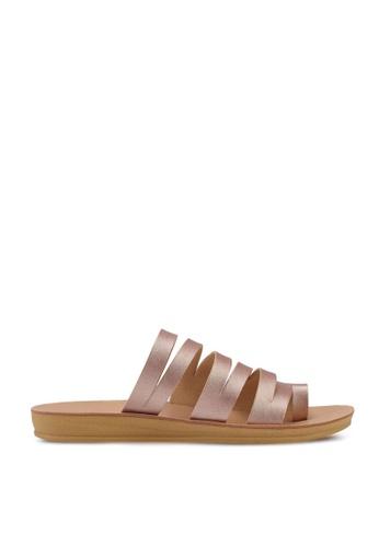 NOVENI gold Multi Strap Sandals B41B5SHEDC1790GS_1