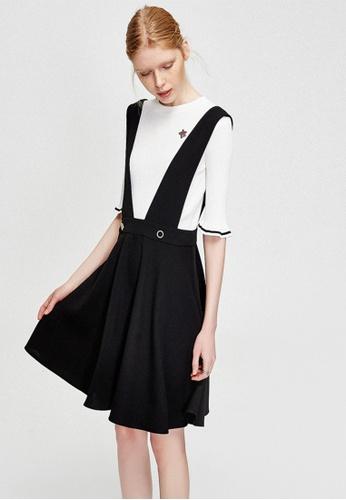 Hopeshow black Adorable Plated Suspender Skirt HO442AA0FQSSSG_1