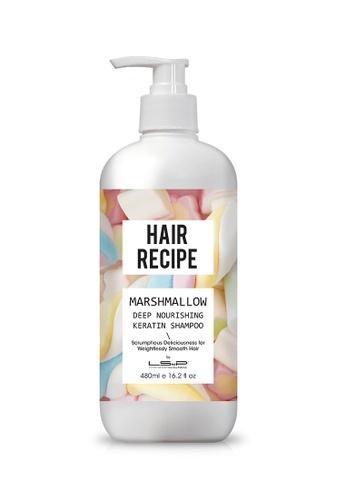 LSnP white and pink and multi Hair Recipe - Marshmallow Deep Nourishing Keratin Shampoo LS980BE67EKYHK_1
