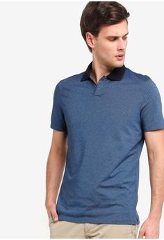 2429fbd6 Banana Republic blue Jacquard Johnny Collar Polo Shirt DB7B4AAEF539E5GS_1